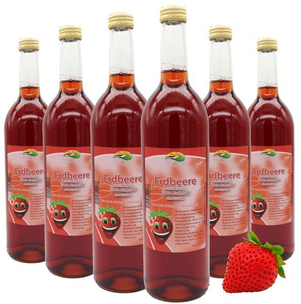Bleichhof Erdbeersaft – 100% Direktsaft, naturrein und vegan, OHNE Zuckerzusatz, 6er Pack (6 x 0,72l)