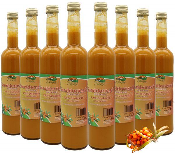 Bleichhof Sanddornsaft – 100% Direktsaft, naturrein und vegan, OHNE Zuckerzusatz, 8er Pack (8x 0,47l)