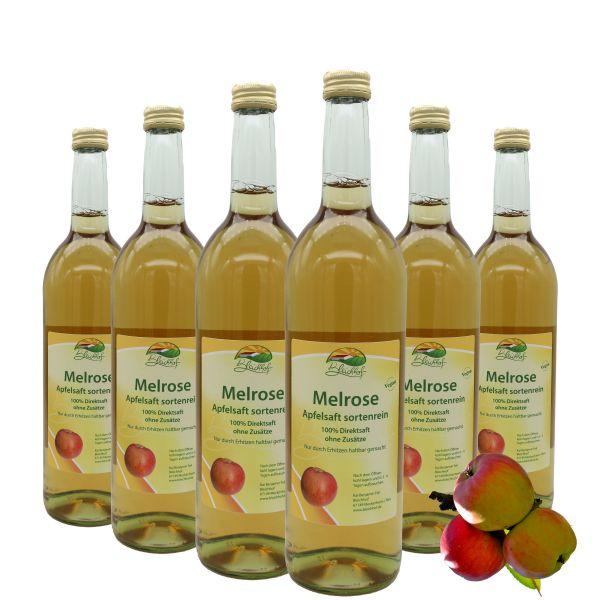Bleichhof Apfelsaft Melrose — 100% Direktsaft, sortenrein, OHNE Zuckerzusatz, vegan, 6er Pack (6 x 0,72l)