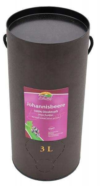 Bleichhof Schwarzer Johannisbeersaft – 100% Direktsaft, OHNE Zuckerzusatz, Bag-in-Box (1x 3l Saftbox)