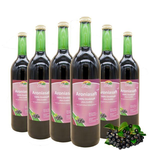 BLEICHHOF® Aroniasaft - 100% leckerer Direktsaft - [6 x 0,72L] Frische Früchte - ohne Zuckerzusatz und Zusatzstoffe - Nachhaltig hergestellt im Familienbetrieb in Meckenheim