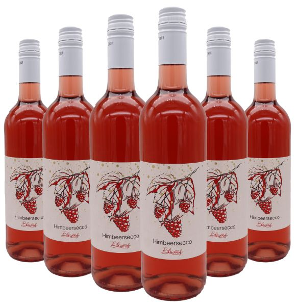 Bleichhof Himbeersecco, 6er Pack (6x 0,75l) 10% vol.