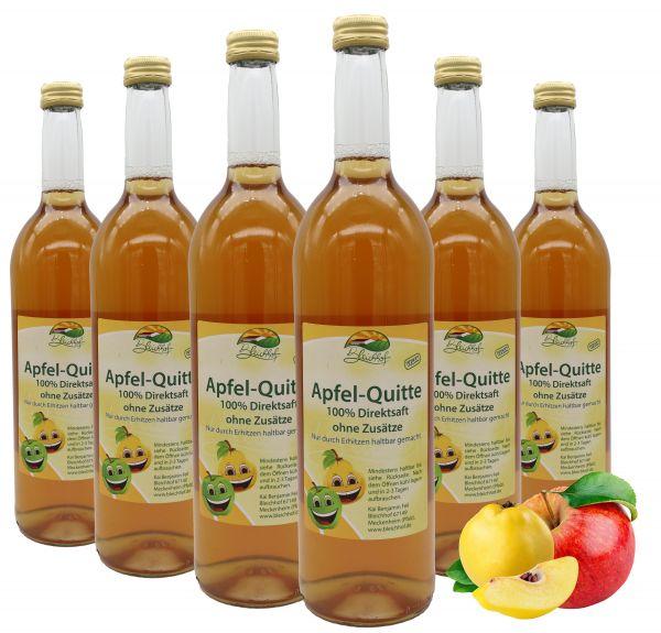 Bleichhof Apfel-Quitten Saft – 100% Direktsaft, naturrein und vegan, OHNE Zuckerzusatz, 6er Pack (6x 0,72l)