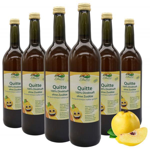 Bleichhof Quittensaft – 100% Direktsaft, naturrein und vegan, OHNE Zuckerzusatz, 6er Pack (6x 0,72l)