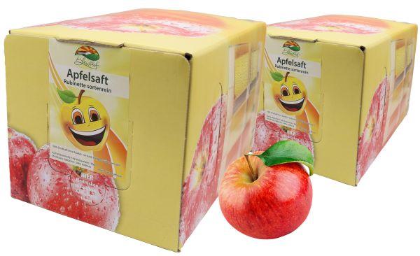 Bleichhof Apfelsaft Rubinette – 100% Direktsaft, OHNE Zuckerzusatz, Bag-in-Box mit Zapfsystem (2x 5l Saftbox)