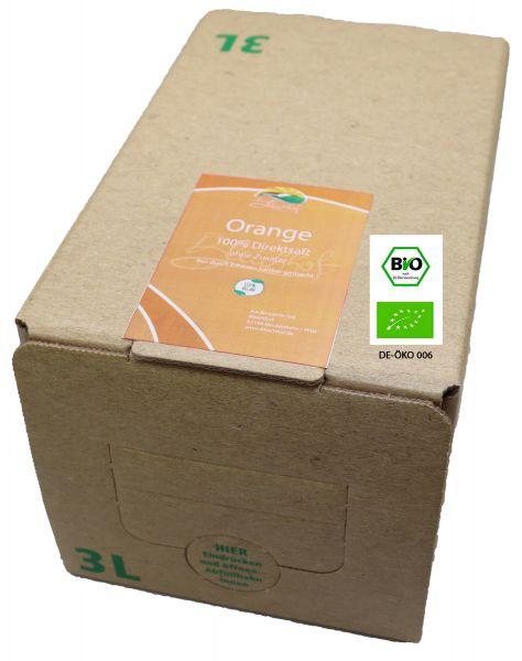Bleichhof Bio-Orangensaft– 100% Direktsaft ohne Zusätze, Bag-in-Box Verpackung mit Zapfsystem (1x 3l Saftbox)