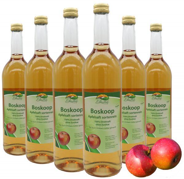 Bleichhof Apfelsaft Boskoop — 100% Direktsaft, sortenrein, OHNE Zuckerzusatz, vegan, 6er Pack (6 x 0,72l)