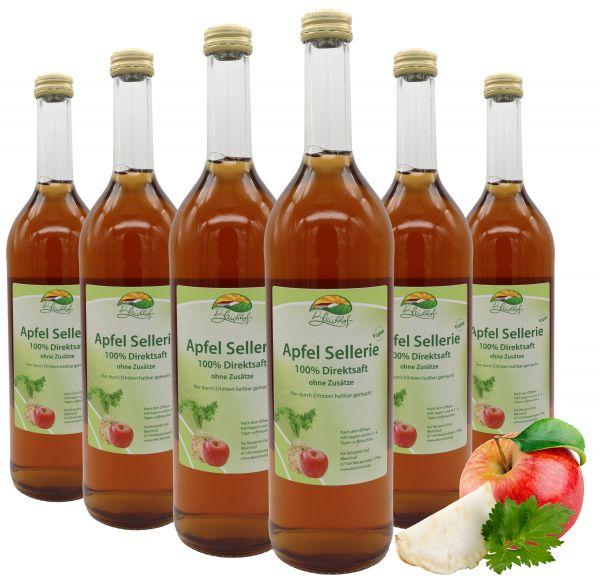 Bleichhof Apfelsaft mit Selleriesaft – 100% Direktsaft, vegan, OHNE Zuckerzusatz, 6er Pack (6x 0,72l)