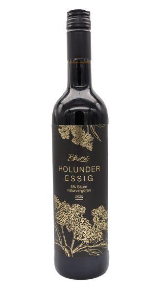 Bleichhof Holunder-Essig 0,75l (1x 0,75l) | 5% Säure, naturvergoren | vegan