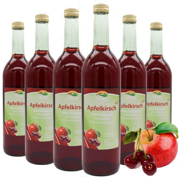 Bleichhof Apfel-Kirsch Direktsaft – 100% Direktsaft, naturrein und vegan, OHNE Zuckerzusatz, 6er Pack (6x 0,72l)