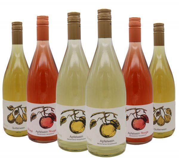 Bleichhof Mixkarton Wein 2x Apfelwein Herrgottsacker, 2x Apfelwein Rouge, 2x Quittenwein (6x1L) 11,5% vol.