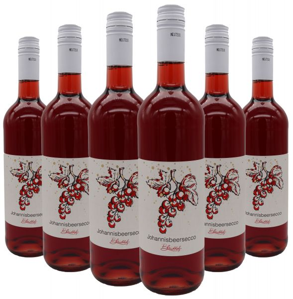 Bleichhof Johannisbeersecco (rot), 6er Pack (6x 0,75l) 10,0% vol.