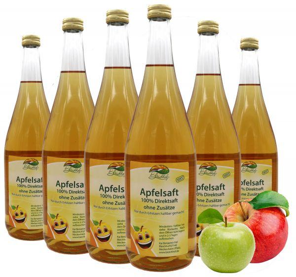 Bleichhof Apfelsaft klar – 100% Direktsaft, naturrein und vegan, OHNE Zuckerzusatz, 6er Pack (6x 0,95l)
