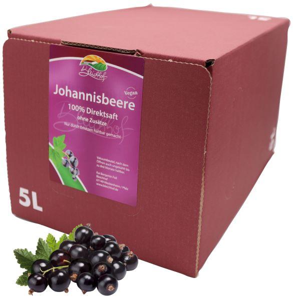 Bleichhof Schwarzer Johannisbeersaft – 100% Direktsaft, OHNE Zuckerzusatz, Bag-in-Box (1x 5l Saftbox)