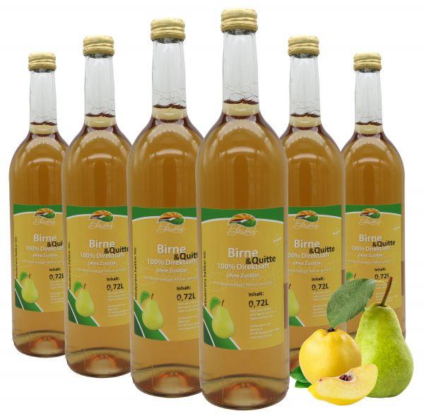 Bleichhof Birnen-Quitten Saft – 100% Direktsaft, naturrein und vegan, OHNE Zuckerzusatz, 6er Pack (6x 0,72l)