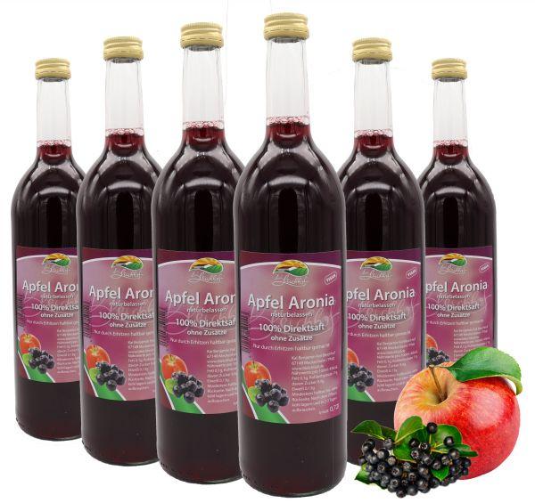 Bleichhof Apfel-Aronia Direktsaft – 100% Direktsaft, naturrein und vegan, OHNE Zuckerzusatz, 6er Pack (6x 0,72l)